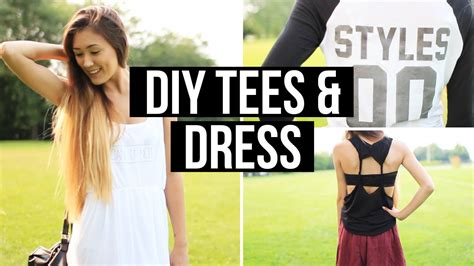 Easy Diy T-shirts & Dress For Back To School 2014