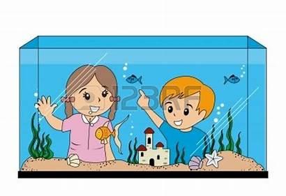 Aquarium Clipart Looking Fish Tank Children Clip