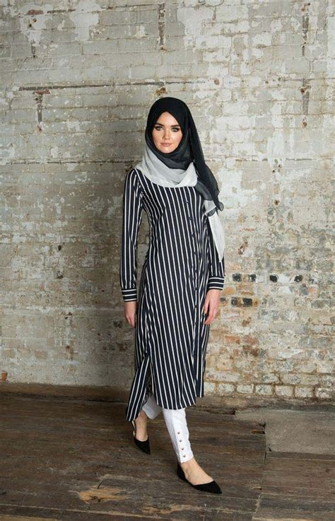 comment porter la robe chemise avec le hijab  styles
