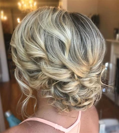 Updo Hairstyles For Curly Medium Length Hair by 60 Trendiest Updos For Medium Length Hair In 2019