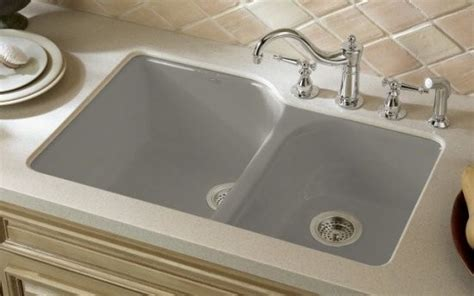 Kohler Double Bowl Undercounter Kitchen Sink-traditional