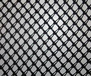 black fishnet fabric