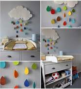 Diy Decorating Ideas For Rooms by DIY Cloud Wall Decorating For A Child S Room