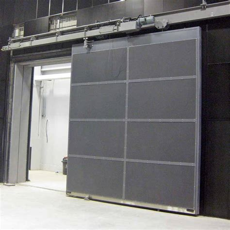 sliding doors fire door horizontal rated metal folding industrial proof acoustic steel pocket system interior between rolling fireproof simple garage