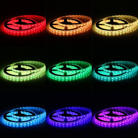 5m smd5050 300leds led rgb color change light kit