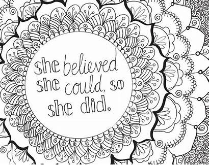 Positive Coloring Phrases Macmillan Pages Adult Printable