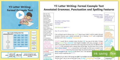 letter writing formal modelexample text