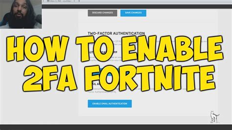 enable fa  fortnite  factor authentication