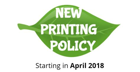 printing policy west albany high school