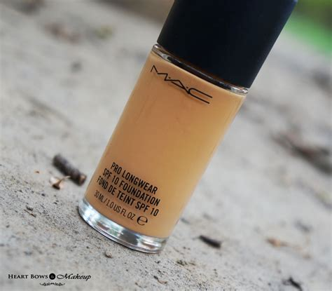 mac pro longwear foundation nc  review swatches heart bows makeup