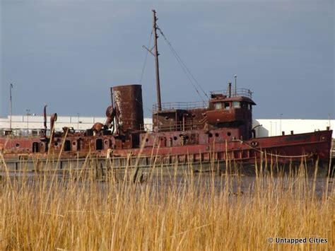 Boat Engine Scrap Yards by The Staten Island Boat Graveyard Untapped Cities