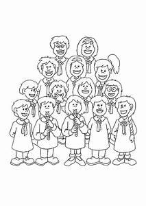 3 Filles Qui Chantent : coloriage musique la chorale qui chante ~ Medecine-chirurgie-esthetiques.com Avis de Voitures