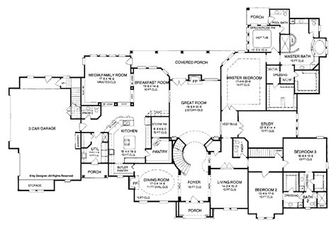 bedroom  story house plan  exercise room