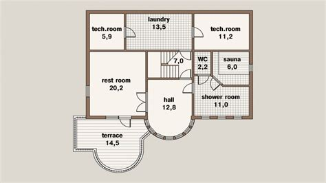 square meter house floor plan  square meters duplex