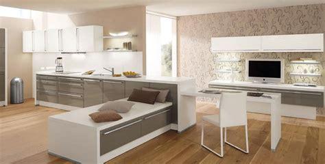cuisine et blanc cuisine blanc et taupe