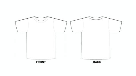 front and back template tshirt blank t shirt template front and back