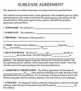 sublease agreement 18 download free documents in pdf word With subletting lease agreement template