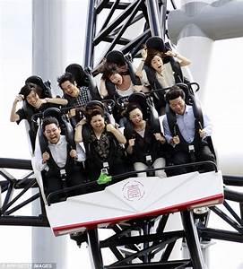 Takabisha: Thrill seekers on world's steepest roller ...