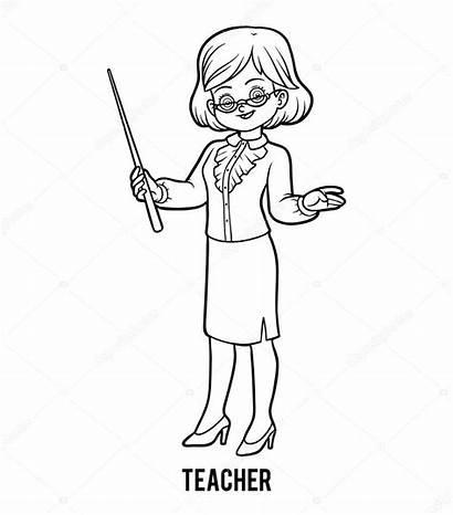 Teacher Colorare Coloring Kolorowanka Nauczyciel Professor Insegnante