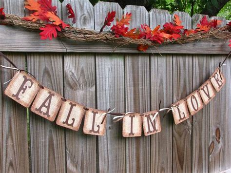 wedding garland fall in banner burlap banner barn