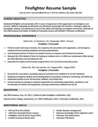 Downloadable Firefighter Resume Sample  Resume Companion. Purchasing Manager Resume. Sample Construction Resume. Sample Resume For A Cook. Data Entry Clerk Skills Resume