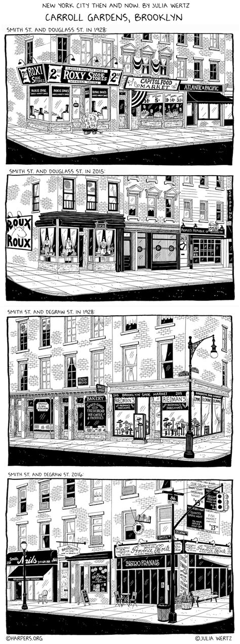 sketch carroll gardens then and now by wertz