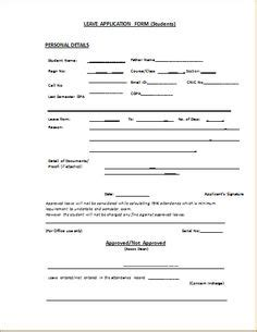 Exle Of Resume To Apply by Annual Leave Application Form Template Leaves