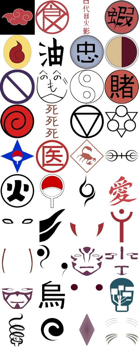 bleach anime name meaning naruto markings and symbols by darkangel kurai134 on