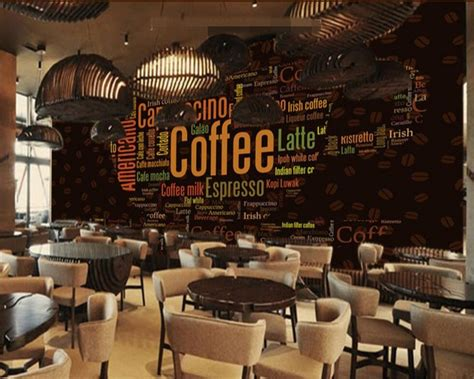 beibehang custom  photo wall paper alphabet coffee cup