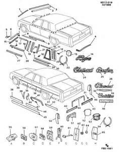 1985 Cadillac Fleetwood Clip  Body Molding  Body Moldings  Frtrr  Cliprq
