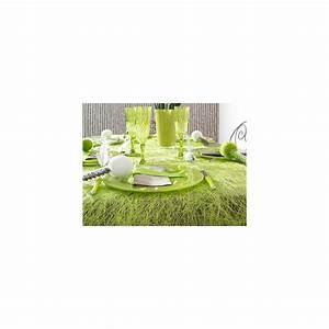 Chemin De Table Vert : chemin de table abaca vert pour une d co de table naturelle ~ Teatrodelosmanantiales.com Idées de Décoration