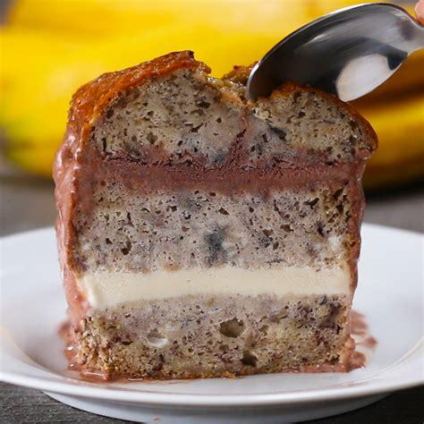 chocolate fondue banana bread boat recipe  tasty