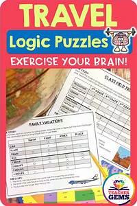 Travel Theme Logic Puzzles
