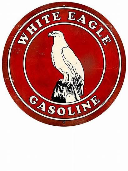 Signs Metal Gasoline Sign Eagle Gas Oil