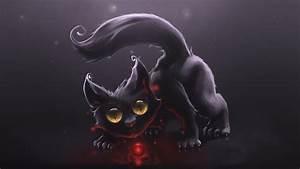 Black+Cat+art | File Name : Black Cat Hd Art Wallpaper ...