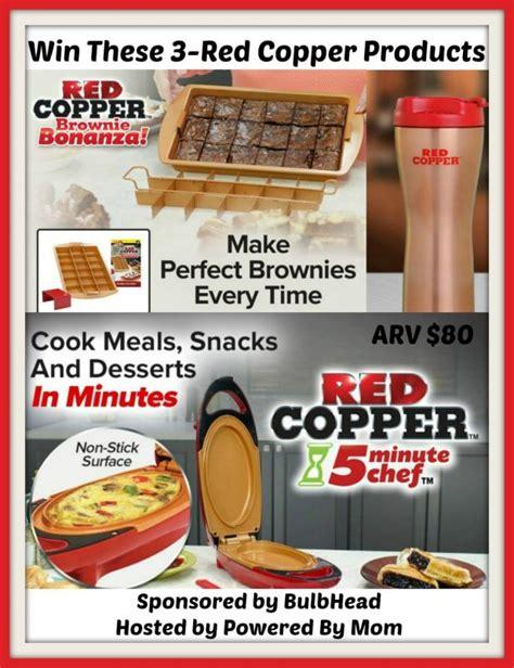 red copper  minute chef brownie bonanza  red copper mug giveaway