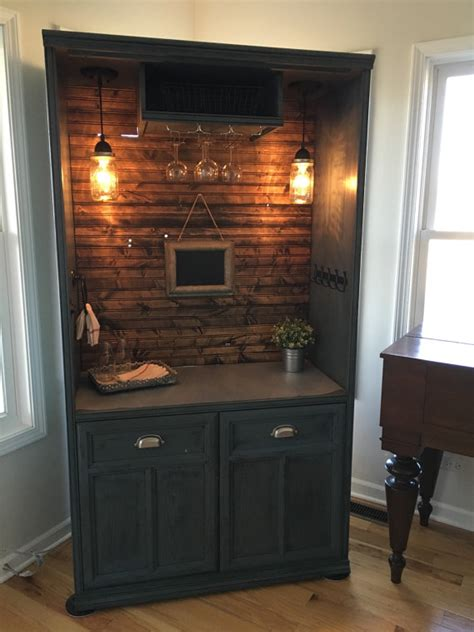 Armoire Cabinet Into A Bar by Sold Armoire Bar Cabinet
