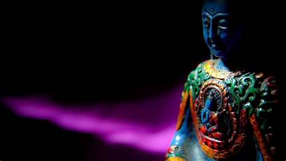 Buddha Meditation Statue Buddhism Buddhist Dark Bamboo