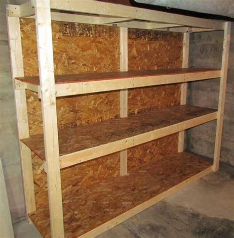 how to make a shelf how to make a basement storage shelf