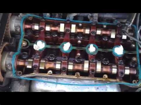chevy aveo valve cover gasket oil  spark plugs change