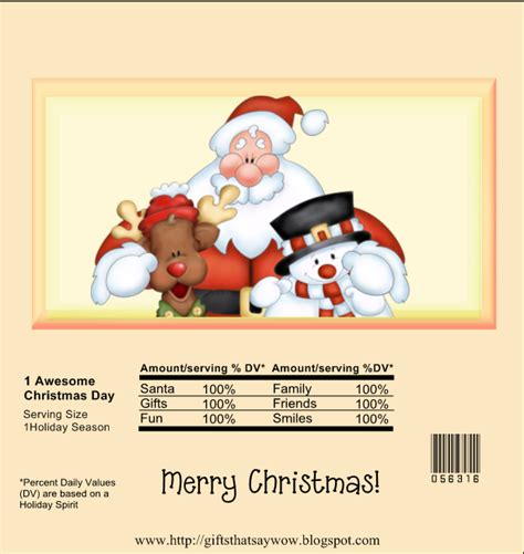 If you have any questions, please leave them in the comments. GIFTS THAT SAY WOW - Fun Crafts and Gift Ideas: Free Santa, Reindeer, Snowman Christmas Candy ...