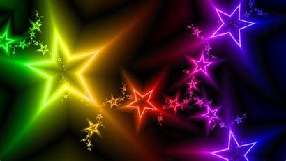 Colorful Backgrounds Wallpapers Bright Neon Stars Wallpapersafari