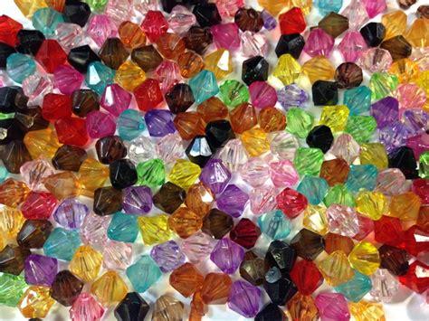 kunststoffperlen doppelkegel rhomben mm mehrfarbig