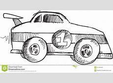 Doodle Race Car Vector stock illustration Image of doodle