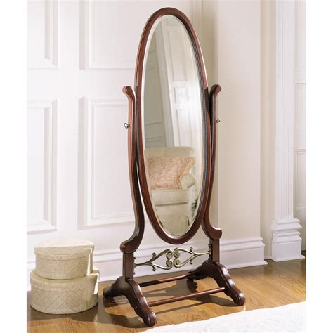 uttermost brayden arch mirror powell heirloom cherry cheval floor mirror 25 25w x 63h