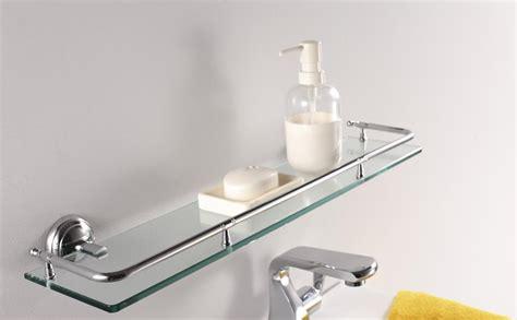 floating glass shelves  bathroom glass shelves