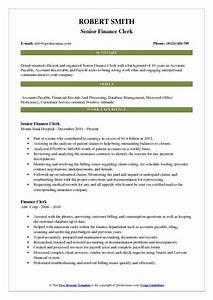 Accounts Payable Resume Finance Clerk Resume Samples Qwikresume