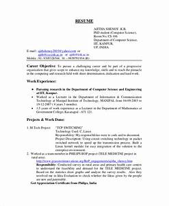 computer science resume template for it workers With computer science resume