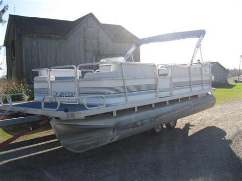 Used Pontoon Boats For Sale Gatineau by 1993 Suncruiser 20 Pontoon Boat W 40hp Johnson Outside