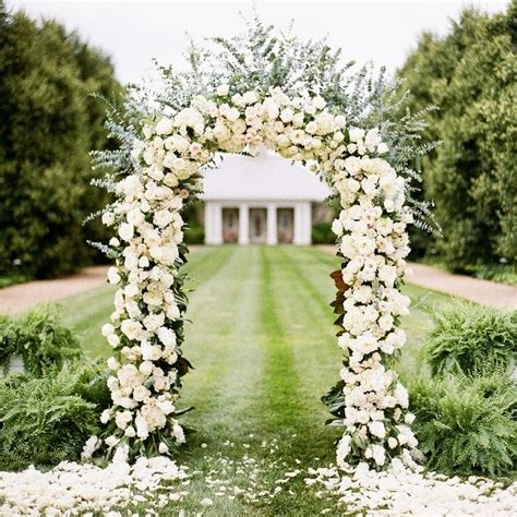 75 Ft White Metal Arch Wedding Garden Bridal Party